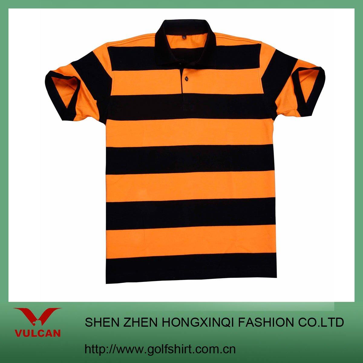 Orange Striped Shirt Mens Mens Orange Black Stripe