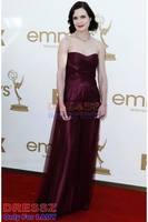 Chic & Modern Romantic Criss-Cross Pear Rectangle Strapless Formal Tulle Sleeveless Celebrity Dress Petite