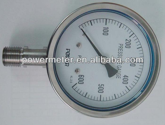 ( ybf-- 100) 100mm جميع الفولاذ المقاوم للصدأ نوع الموضوع نوع المانومتر بسي السائل شغلها