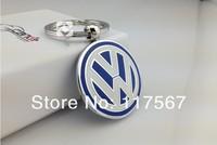 автомобиль аксессуары volkswagen автомобиль логотип твердых брелок авто брелок для легковых автомобилей, обе стороны с логотипом, с подарочной коробке