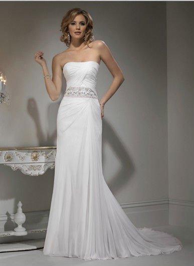 Белое шифоновое платье zoom