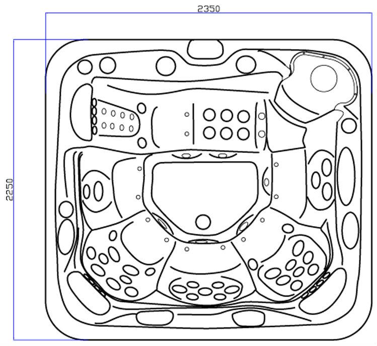 Hot Tub Drawings Design Usa Acrylic Hot Tub