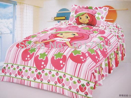 Shortcake Strawberry Single Bed Girl Cartoon Duvet Cover