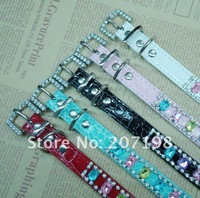 Ошейники и Поводки для собак high quality luxury Bling Rhinestone diamond pet cat dog collar lot 20 mixed color and mixed size
