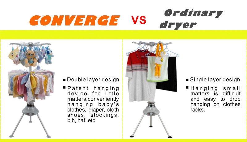 Mini baixo consumo de eletricidade em torno do secador de roupa portátil