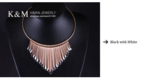 Колье-ошейник KM-Fashionable gold linear shape forming necklace NK-00850