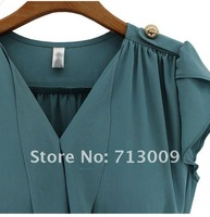 Promotion! Fashion first quality women's dress summer clothes chiffon 2 colors 460