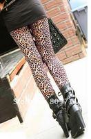 сексуальная мода искусственная кожа лоскутная молния леопардовый леггинсы женщины мода и розничная перевозка груза падения