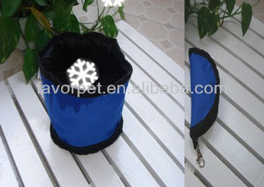 water proof foldable dog travel bowl
