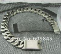 Классические тяжелые мужские Браслеты Браслеты мужские из нержавеющей стали ювелирные изделия серебро новая мода ювелирные mb49