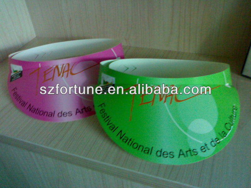 customized visor paper hat,promotion paper hat