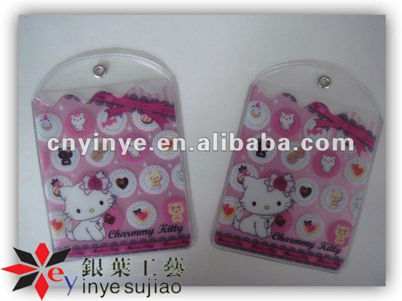 Sheep Photo Soft Pvc Card Bag For Name Card