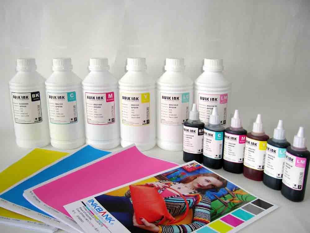 6 cores de tinta corante para Epson T50 / L800 impressoras de mesa