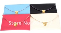Wholesale PU Ladies' fashion handbag, clutch handbag, women envelope clutch chain purse, 100pcs/lot