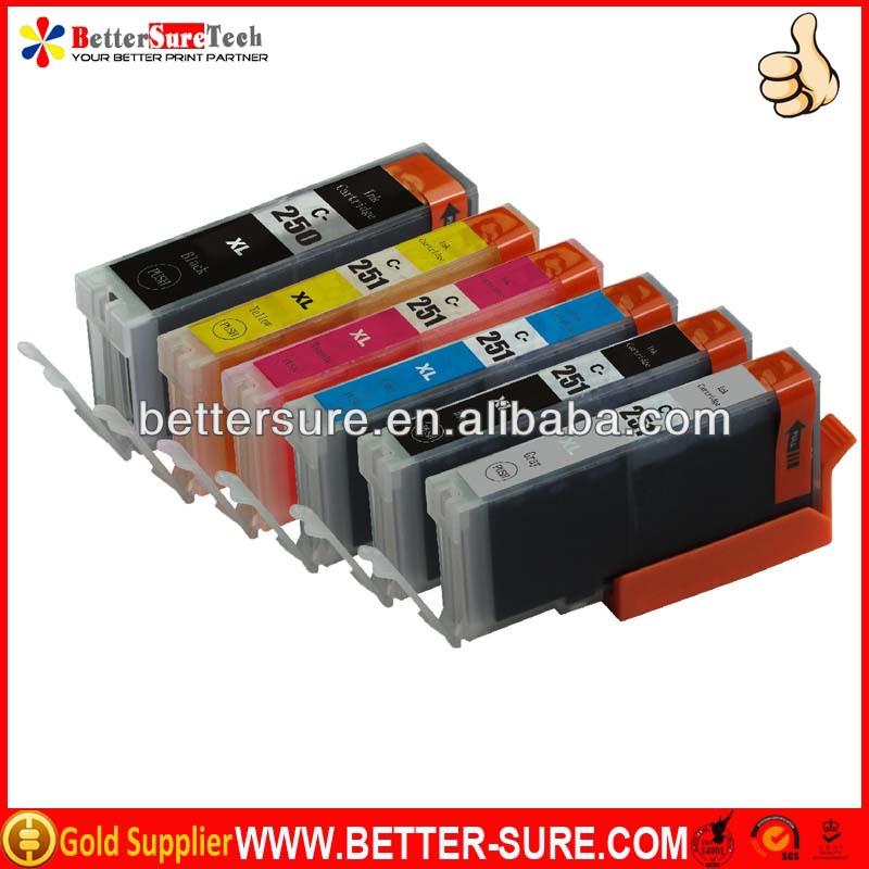 Excellent PGI-250 CLI-251 set B C M Y new compatible canon ink cartridge