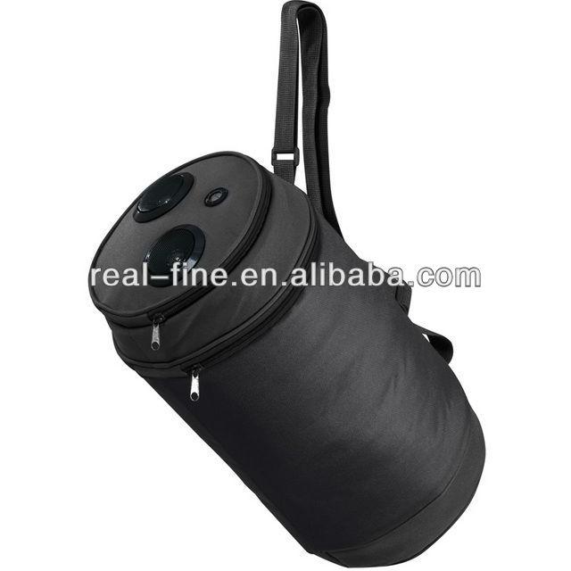 Rolling aluminium bottle Cooler Bag with Speakers