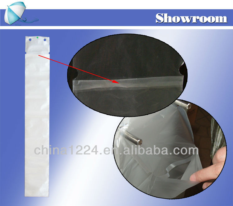 2014 new hotel furniture biodegradable bag for wet umbrella dispenser printing logo machine