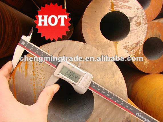 Steel tube,DIN 1630,ST-52.4, DIN 2448 OD 168 +0/-0.3 X (WALL THICKNESS) 14