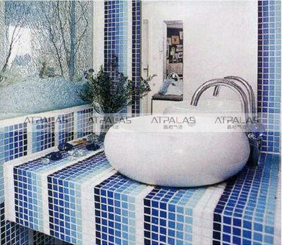awesome salle de bain mosaique bleu pictures - antoniogarcia.info ... - Salle De Bain Mosaique Bleu