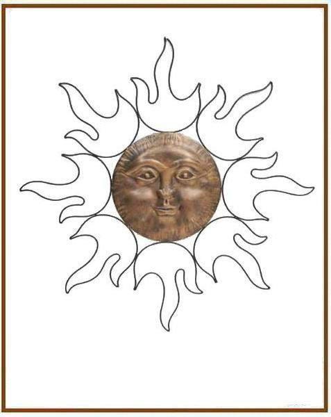 Sun Face Outdoor Wall Decor - Buy Outdoor Wall Decor,Wall Decor ...