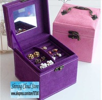 Free ship!Cosmetic case / Princess suede the European jewelry box
