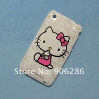 Sales Promotion,MOQ:10pcs,Hello Kitty hard Plastic Cover Case For Apple iphone 3GS ,free shipping