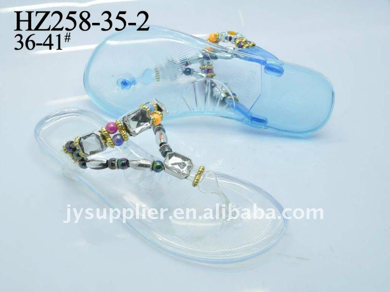 latest jelly flip flop sandal