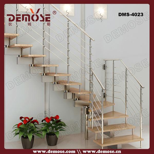 Construcción de doble larguero escalera de madera de acero de ...