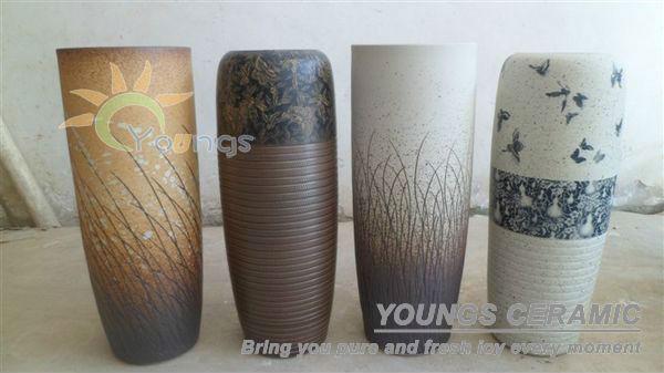 Jarrones de barro pintados a mano modernos imagui for Jarrones de suelo modernos