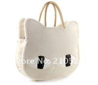 Милые Мода женщины девушки кошка голову стиле плюшевая сумка сумочка четыре цвета