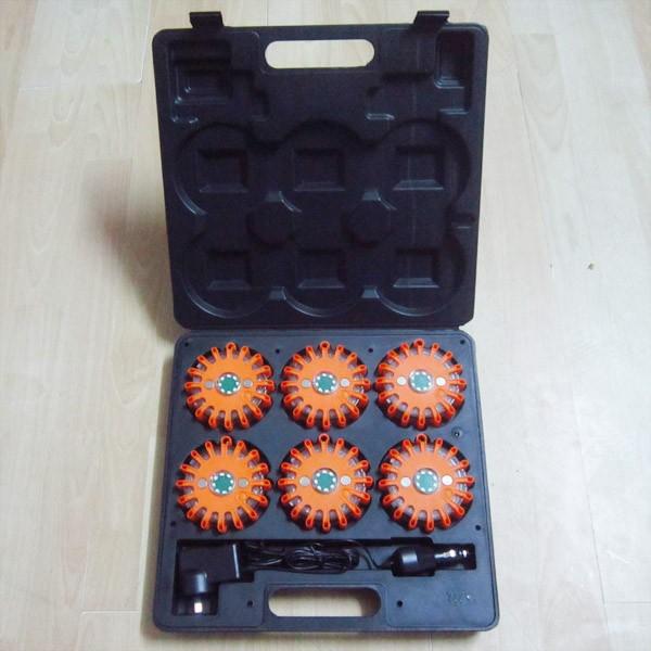 6 packs 24 led rechargeable led emergency flares
