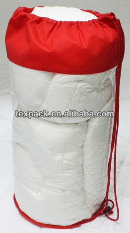 Promotional Plastic Cylinder Pillow Bag With Zip Lock