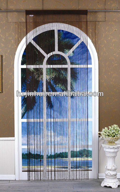 polyester knitted single colour decorative string curtain