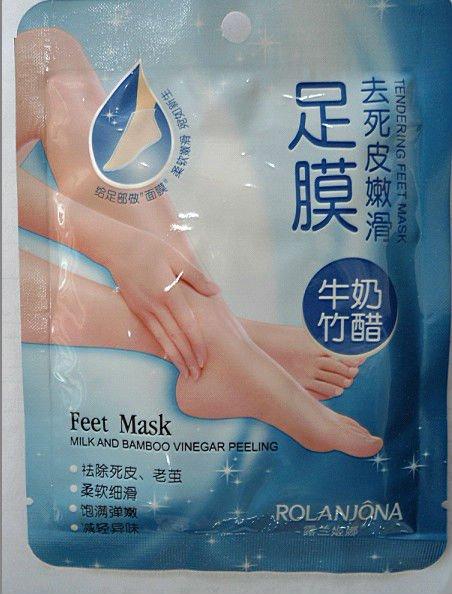 Rolanjona Milk and Bamboo Vinegar Peeling & Tendering Feet Mask-private label