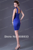 Wholesales! Free Shipping Grace Karin 3pcs/lot Sexy Sheath Short Blue Evening Dresses (Can Choose Different Size) CL2017