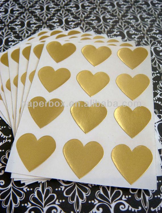 custom design letterpress silver gold wedding envelope seal