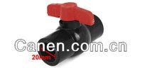 "Брусковый алюминий Replacement 1 2"" x 1 2"" Slip Black Plumbing PVC Ball Valve w Red T Handle"