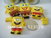 USB-флеш карта discount, rubber sponge bob mix 2.0 usb flash drive, 30/lot 1GB2GB, 4GB, 8GB, 16GB, 32GB