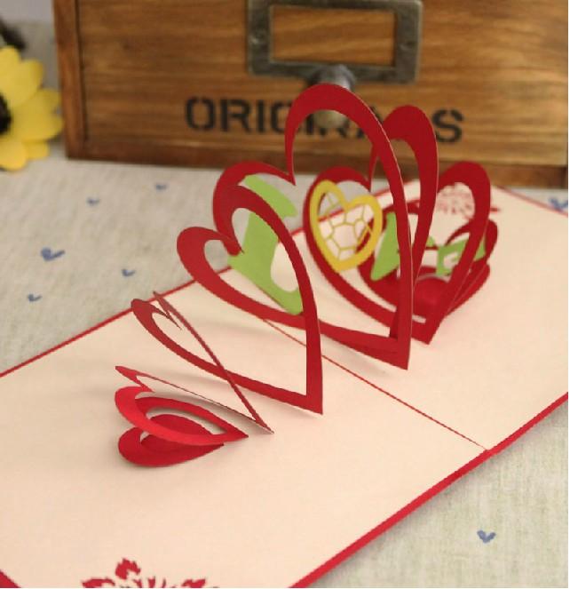 Tarjetas artesanales de amor - Imagui