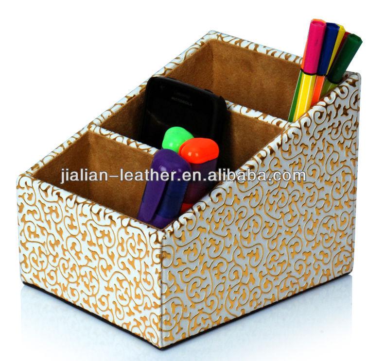 4 lattice promotional leatherette Desk Accessories