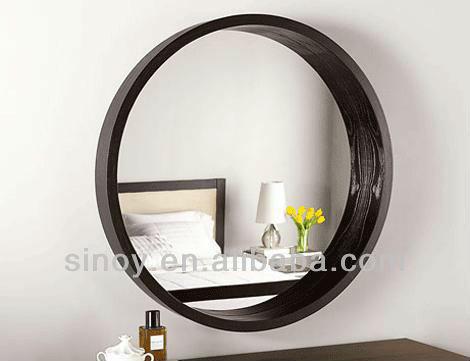 Chine d coratif en forme argent miroir verre en rond pour for Miroir incassable ikea