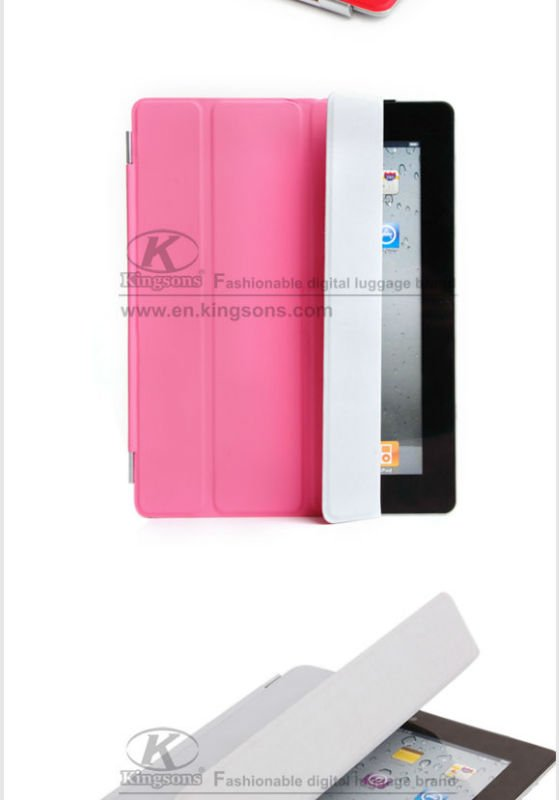 Kingsons Brand Colorful Smart Cover for iPad 2 designer for ipad case