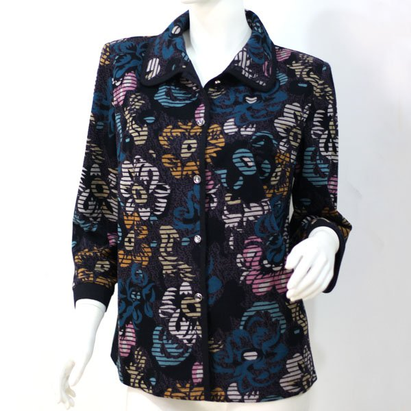 middle aged women batik cotton blouses