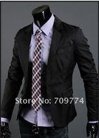 Мужская мода малых костюм свободные пальто мужской костюм тонкий досуг деловой костюм