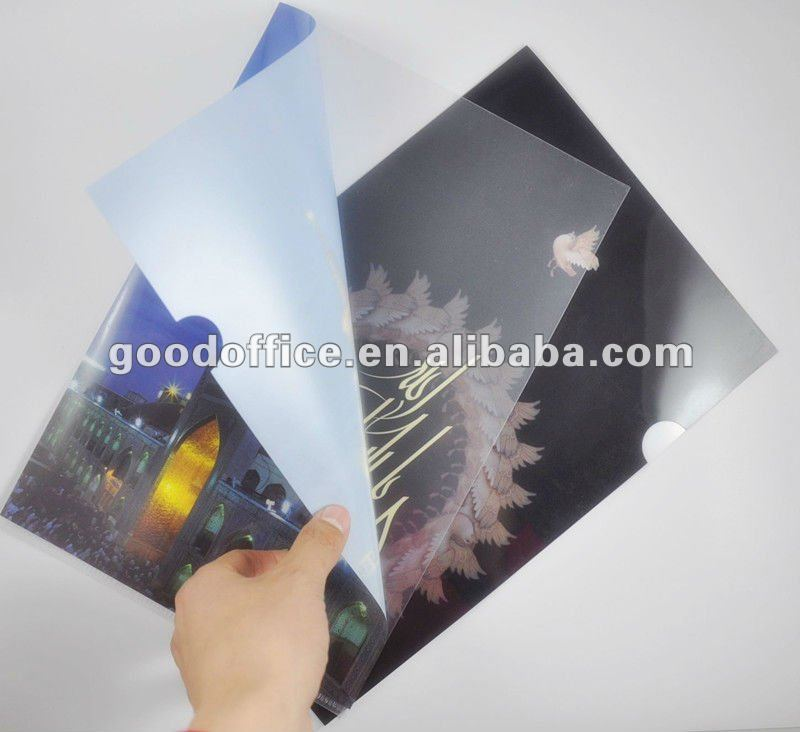 Hot sales promotional gifts Factory manufacture 100% non-toxic L shape a4 plastic pp folder
