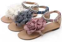 Женские сандалии 2012 HOT SALE S317 high quality leather uppers chic flat shoes sexy lady shoes women's fashion sandals size 30-43