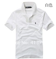 Мужская футболка men's polo shirts pony polo shirt t-shirts not fade fabrics
