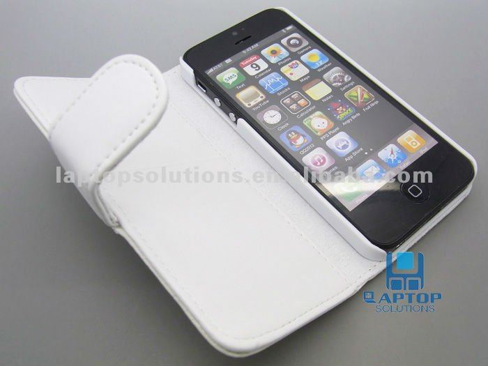 Folio Stylish Cards Pouch Leather Case for iPhone 5