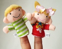 cartoon mini finger puppet, my family finger toys, baby dolls, baby toys, animal doll 120pcs/bag, 12pc/bag