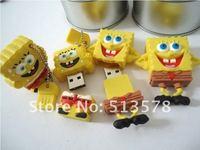 New arrival discount,rubber sponge bob mix  2.0 usb flash drive,30/lot  1GB2GB,4GB,8GB,16GB,32GB